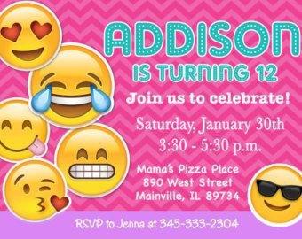Free Emoji Invitation Template Emoji Invitations Emoji Invite Tie Dye Tween Teen Cell