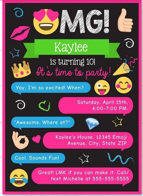 Free Emoji Invitation Template Free Printable Emoji Chat Invitation Q Party