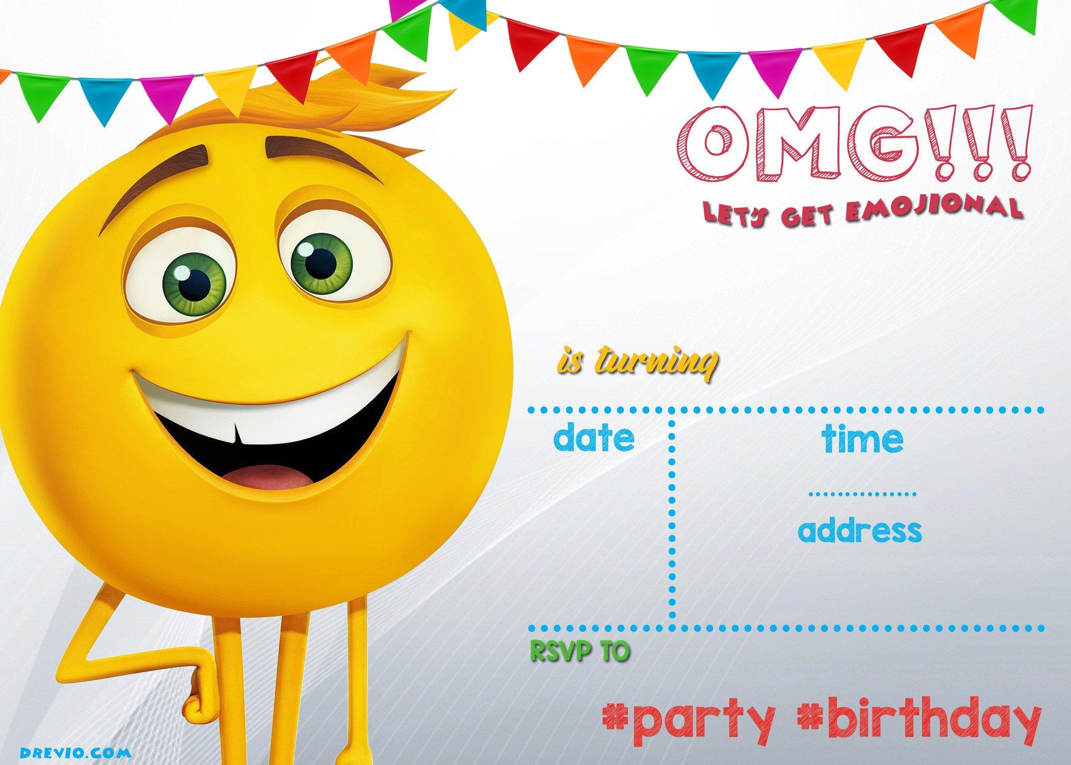 Free Emoji Invitation Template Free Printable Emoji Invitation Template