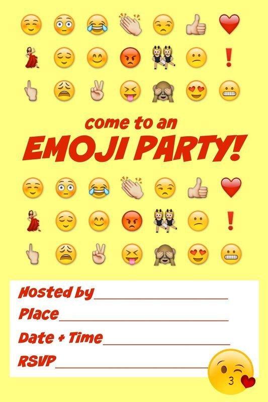 Free Emoji Invitation Template Ultimate Emoji Party Idea Guide Snacks Crafts