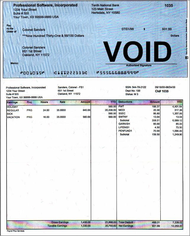 Free Employee Earnings Statement Template Free Employee Earnings Statement Template