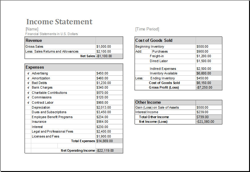 Free Employee Earnings Statement Template Ms Excel In E Statement Editable Printable Template