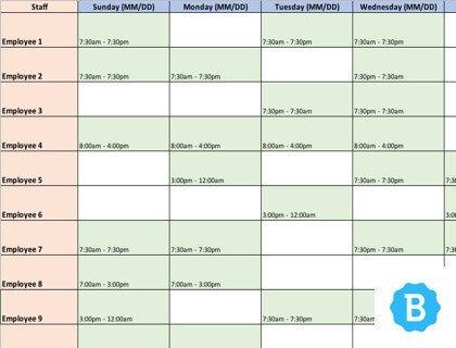 Free Employee Schedule Template Employee Schedule Template [free Instant Downloads]