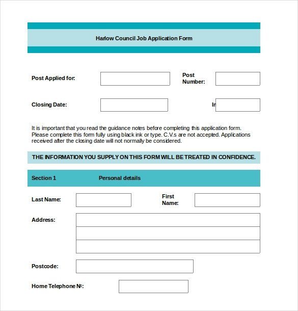 Free Employment Application Template Download Employment Application Templates – 10 Free Word Pdf