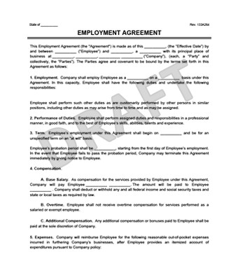 Free Employment Contract Template Create An Employment Contract In Minutes
