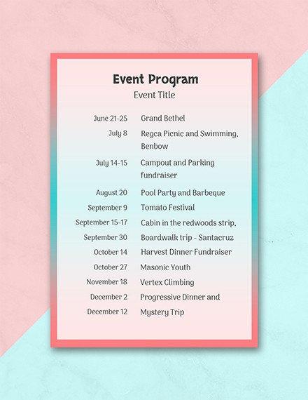 Free event Program Templates 24 Program Examples Pdf Psd Doc