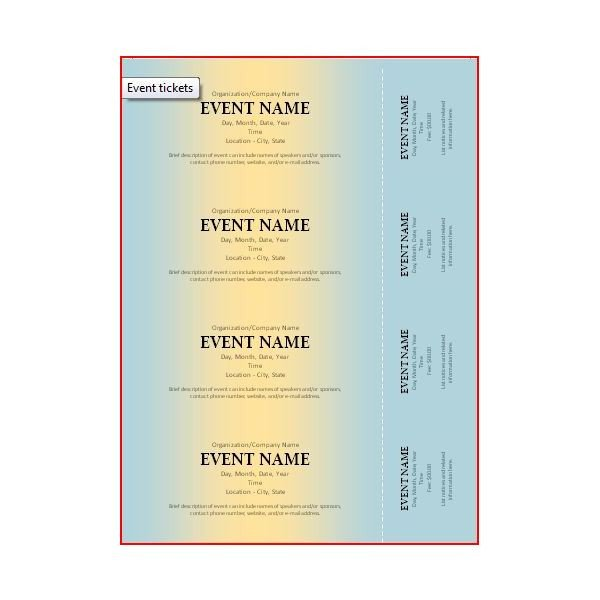Free event Ticket Template the Best event Ticket Template sources
