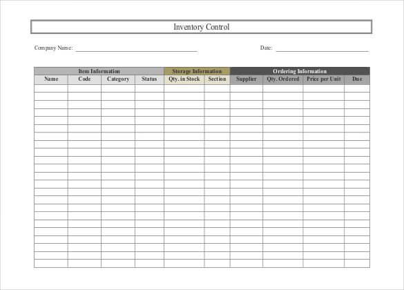 Free Excel Inventory Template 24 Free Inventory Templates for Excel and Word You Must Have