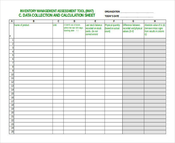 Free Excel Inventory Template Inventory Spreadsheet Template 48 Free Word Excel