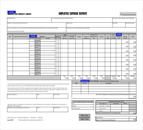 Free Expense Report Templates 31 Expense Report Templates Pdf Doc