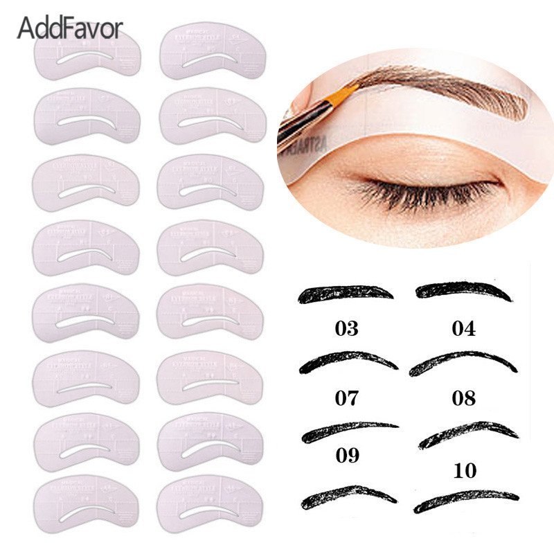 Free Eyebrow Stencils Printouts Aliexpress Buy Addfavor 24pc Set Eyebrow Template