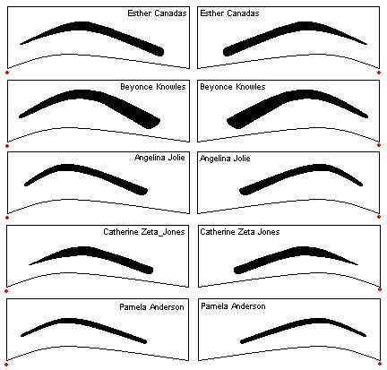 Free Eyebrow Stencils Printouts Best Eyebrow Stencils Celebrity Inspired Eyebrow