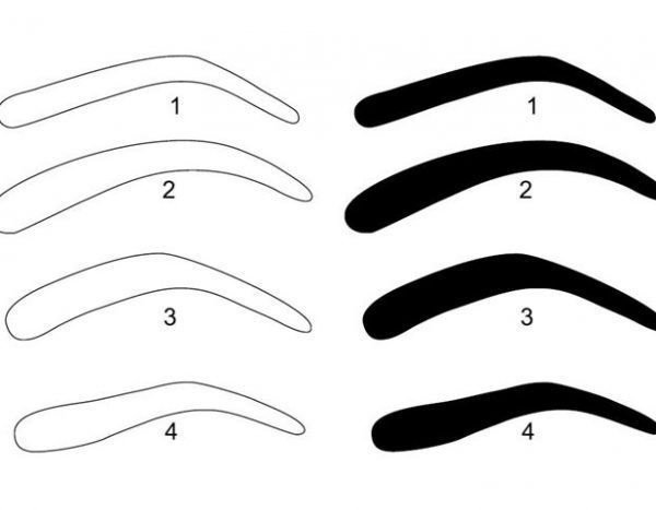 Free Eyebrow Stencils Printouts Eyebrow Stencil Printable – Eyebrows Shape