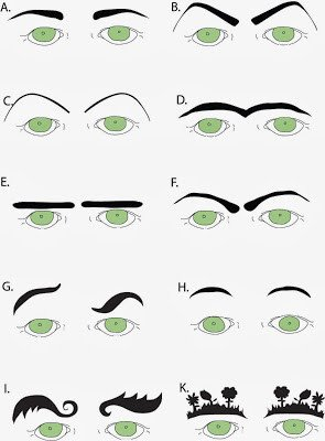 Free Eyebrow Stencils Printouts In Stitches