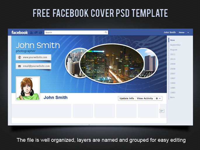 Free Facebook Covers Templates 19 Splendorous Timeline Covers Psd Templates