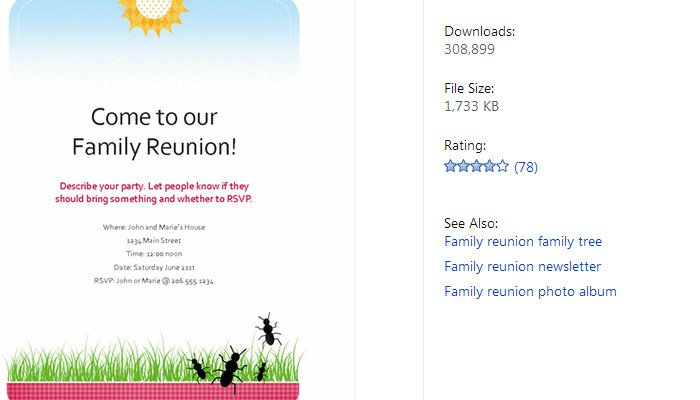 Free Family Reunion Templates 3 Free Family Reunion Flyer Templates