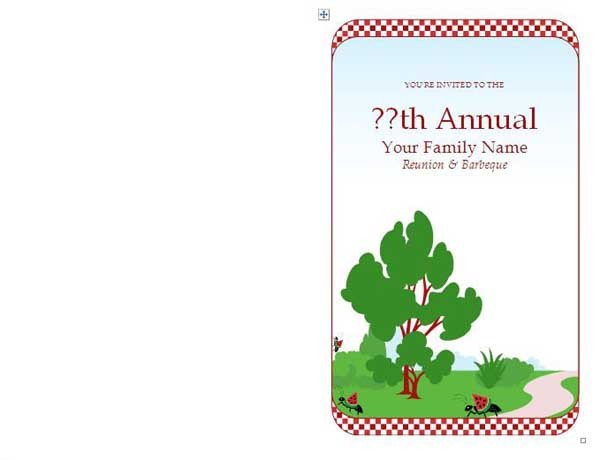 Free Family Reunion Templates Family Reunion Invitations Microsoft Word Templates
