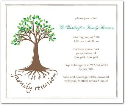 Free Family Reunion Templates Family Reunion Invitations