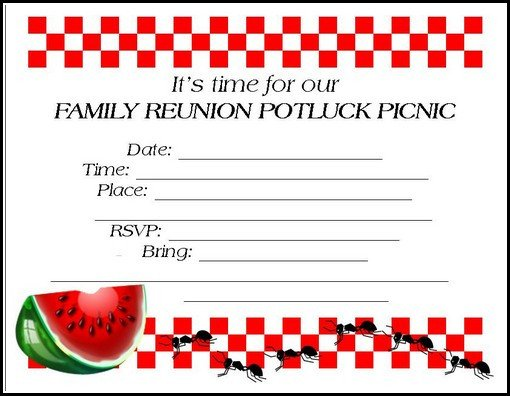 Free Family Reunion Templates Family Reunion Invitations Tips Samples Templates