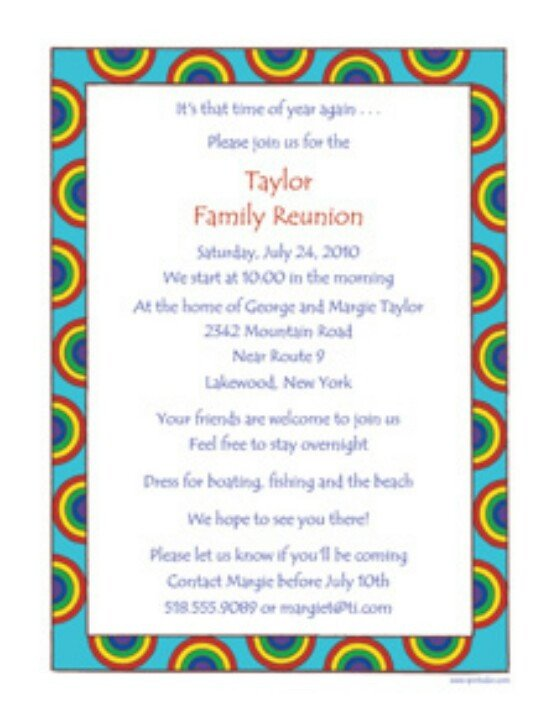 Free Family Reunion Templates Family Reunion Invite