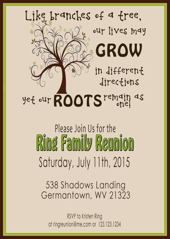 Free Family Reunion Templates Family Reunion Invite Swirly Tree Printable Digital