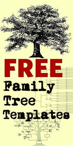 Free Family Reunion Templates Free Family Tree Templates Crafts Pinterest
