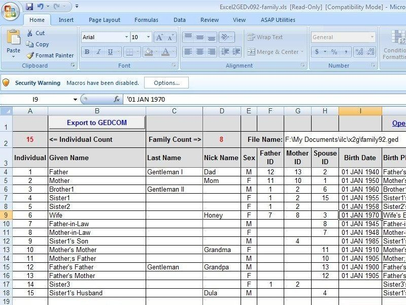 Free Family Tree Template Excel Documenting the Past the Present and the Future with