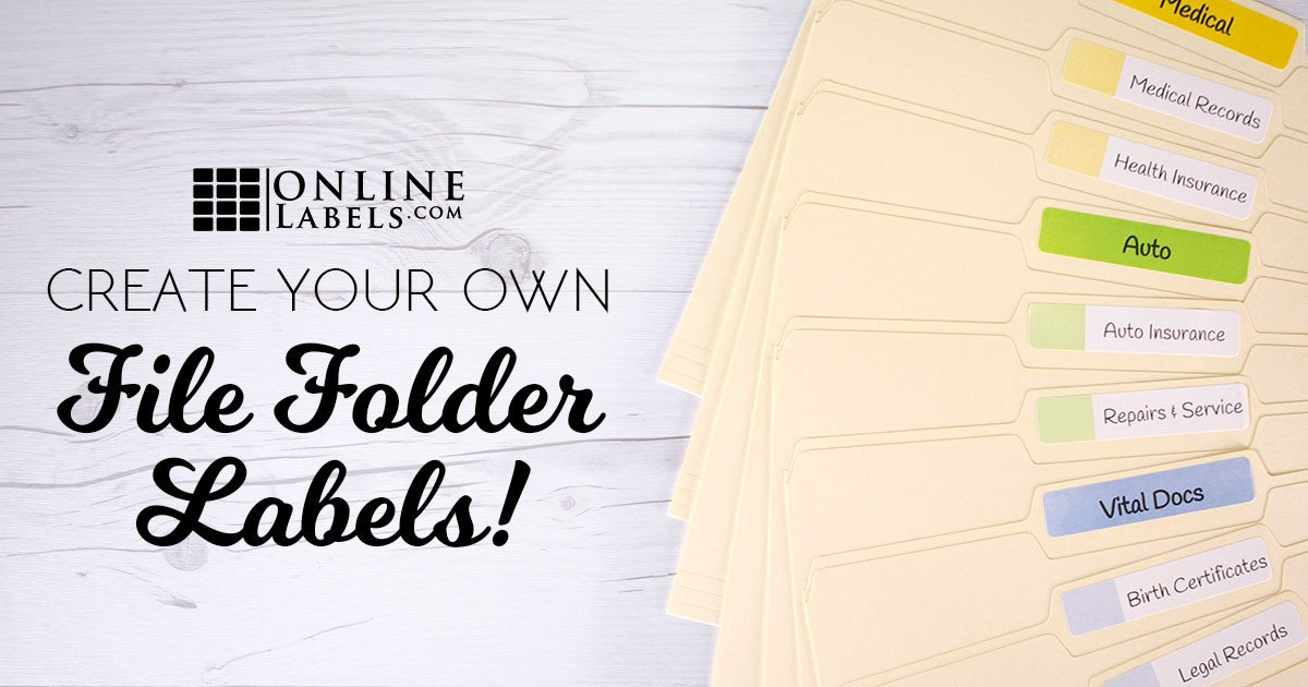 Free File Folder Label Template 3 Ways to Create Your Own File Folder Labels