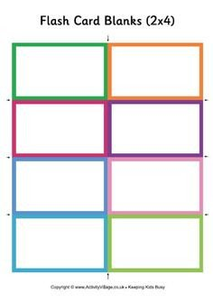 Free Flash Card Template Blank Flash Card Templates Printable Flash Cards