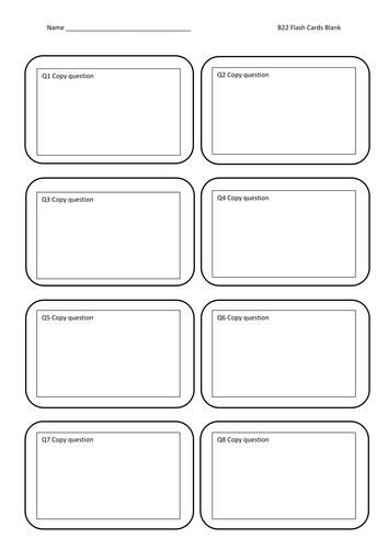 Free Flash Card Template Flash Cards Blank by Jamesbradyuk