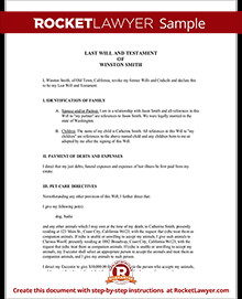 Free Florida Wills Template Last Will and Testament Template for A Will