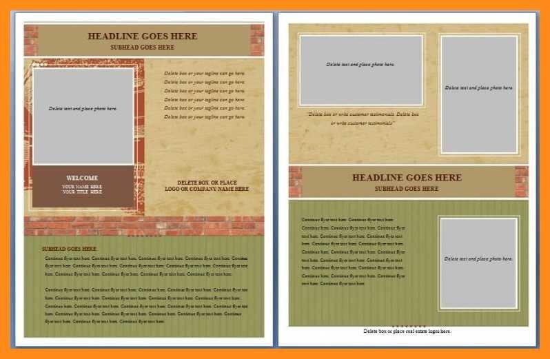 Free Flyer Templates Microsoft Word 12 13 Microsoft Word Handout Templates