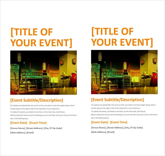 Free Flyer Templates Microsoft Word 12 Microsoft Flyer Templates Download Free Documents In
