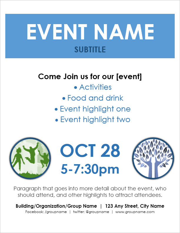 Free Flyer Templates Microsoft Word event Flyer Template for Word