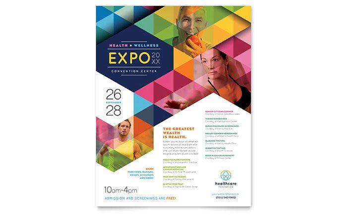 Free Flyer Templates Microsoft Word Health Fair Flyer Template Word & Publisher