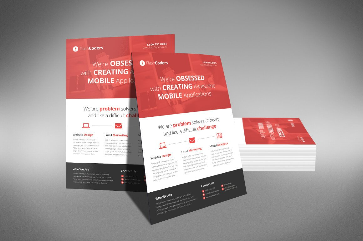 Free Flyers Designs Templates A Professional and Free Flat Design Corporate Flyer Psd