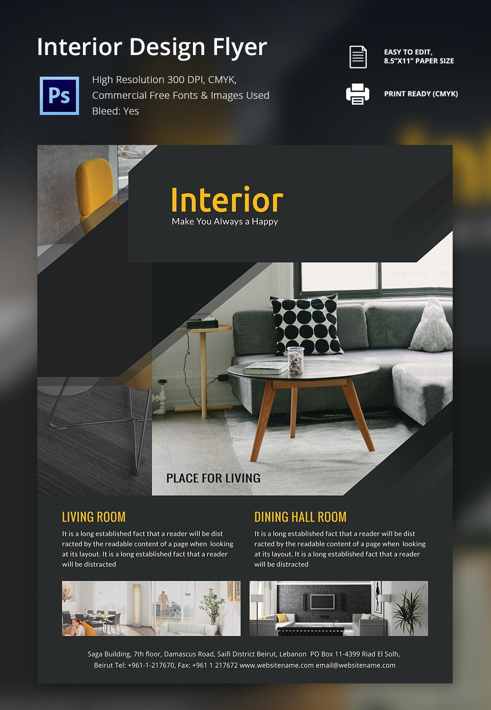 Free Flyers Designs Templates Interior Design Brochure 25 Free Psd Eps Indesign