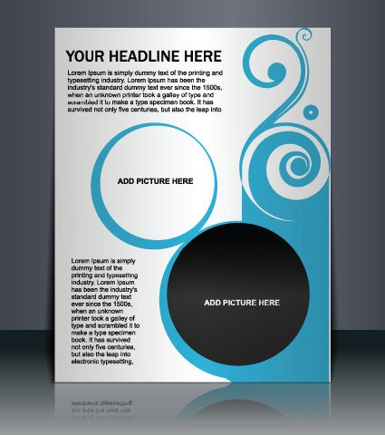 Free Flyers Designs Templates Vector Template Presentation Of Flyer Design 01 Free