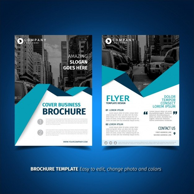 Free Flyers Template Download Flyer Template Design Vector