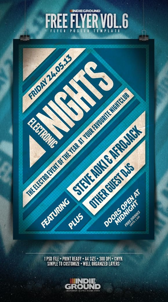 Free Flyers Template Download Free Flyer Template Vol 6 In Ground Graphic Design