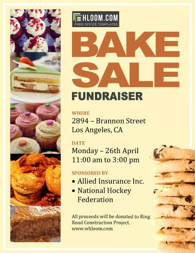 Free Fundraiser Flyer Templates 12 Bake Sale Flyer Templates