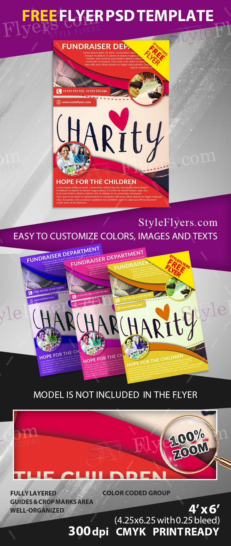 Free Fundraiser Flyer Templates Fundraiser Free Psd Flyer Template Free Download