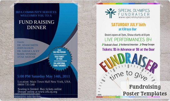 Free Fundraiser Flyer Templates Fundraising Posters Templates & Downloads