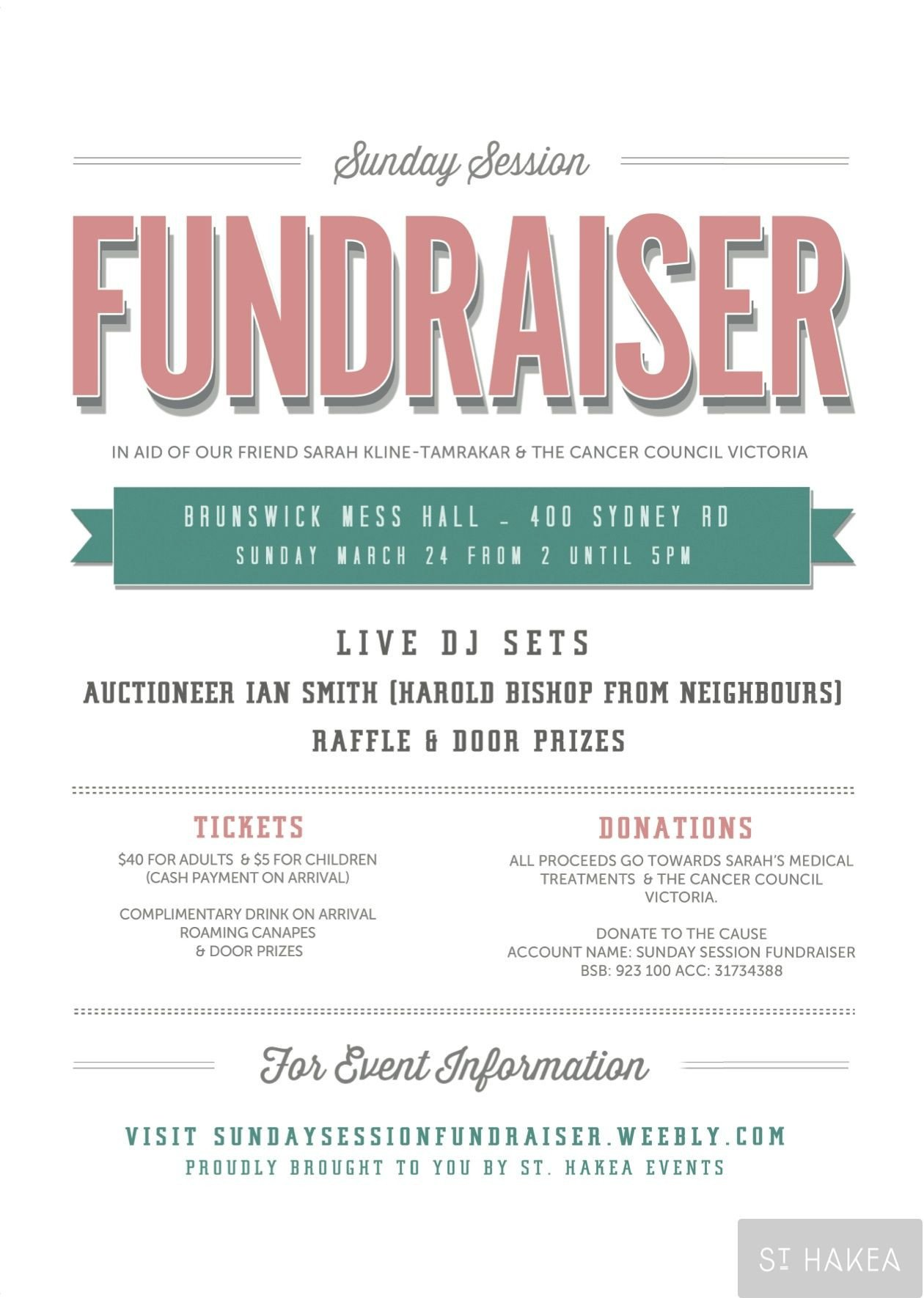 Free Fundraiser Flyer Templates Sunday Session Fundraiser event Flyer Proudly Bought to