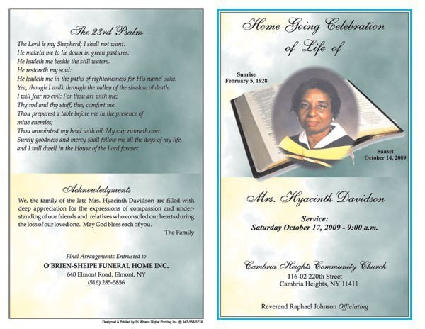 Free Funeral Program Template Word 6 Free Funeral Program Templates Microsoft Word Website