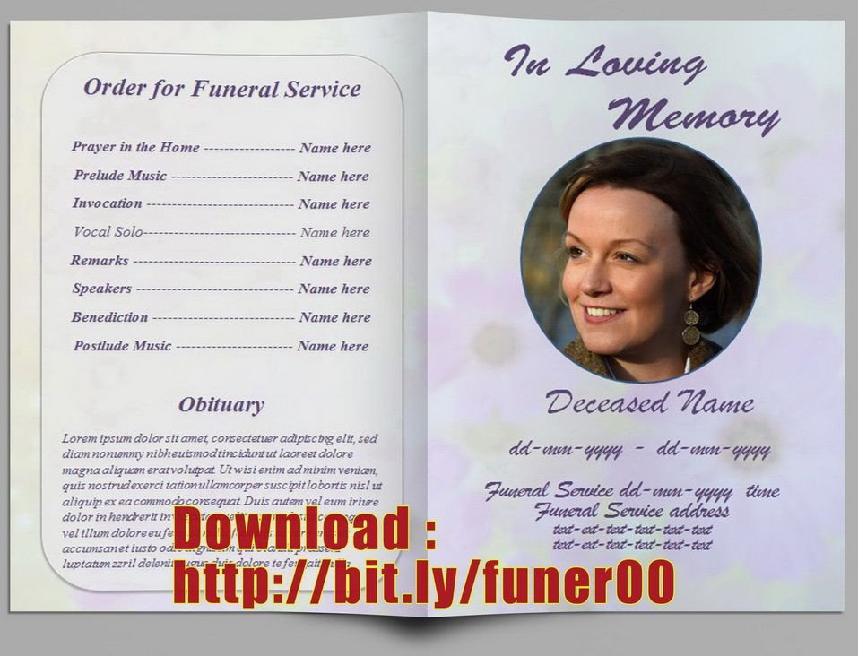 Free Funeral Program Template Word Pin by Free Funeral Program Template On Free Memorial