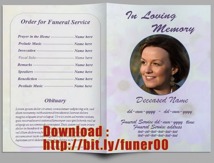 Free Funeral Program Templates 17 Best Ideas About Memorial Service Program On Pinterest