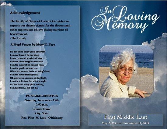 Free Funeral Program Templates Free Funeral Program Template Microsoft Word