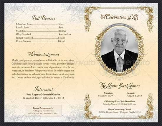 Free Funeral Program Templates Funeral Program Template 30 Download Free Documents In