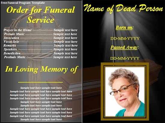 Free Funeral Program Templates Sample Funeral Program Template 30 Download Free